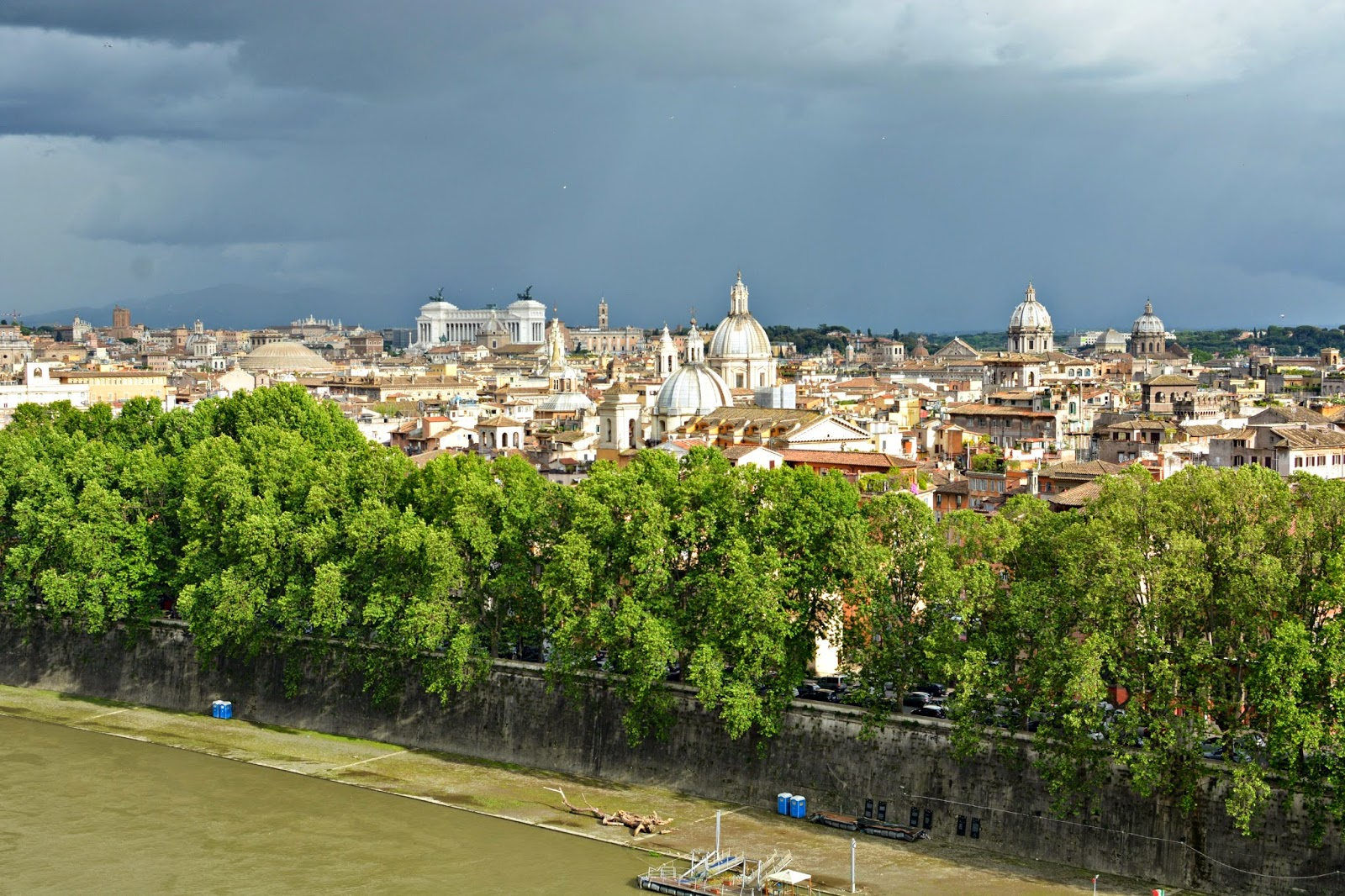 Storm over Rome Italy
