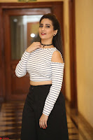 Manjusha in sleevelss crop top and black skirt at Darshakudu pre release ~  Exclusive Celebrities Galleries 066.JPG