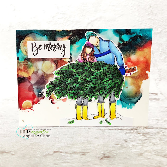 ScrappyScrappy: Unity Stamp - Christmas Edition #scrappyscrappy #unitystampco #card #cardmaking #christmascard #holidaycard #youtube #quicktipvideo #stamping #christmasedition #christmastree #christmascouple #deckthehalls #bemerry #alcoholinks #timholtzfrostedfilm #nomessglitter