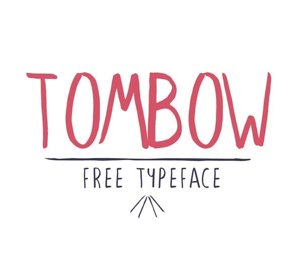 Brush font terbaik 2017 - Tombow – Free Brush Font