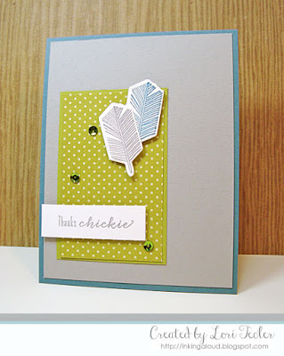 Thanks, Chickie card-designed by Lori Tecler/Inking Aloud-stamps and dies from Waltzingmouse Stamps