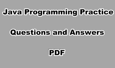 Java Programming Practice Questions and Answers PDF
