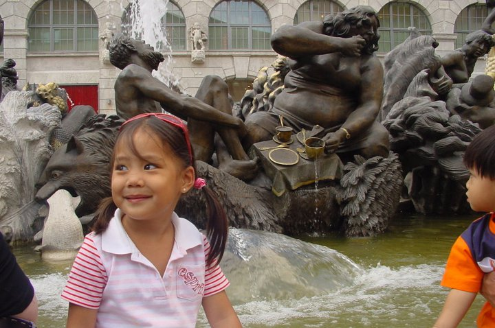 Kids at Play, fountain photo
