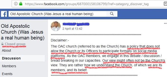 Old Apostolic Church revealed