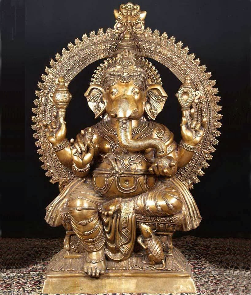 a coper color ganesh ji