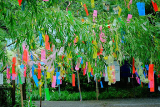 Tanabata scenery in Japan.