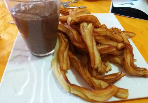 Trampantojo De Churros Con Chocolate