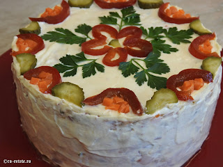 Salata boeuf reteta de casa traditionala romaneasca cu pui retete mancare gustare garnitura aperitive craciun pasti revelion carne legume maioneza olivier a la russe,