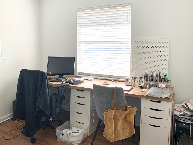 Mid century modern home office: Before