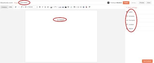 Panduan Lengkap, Membuat Postingan Blog