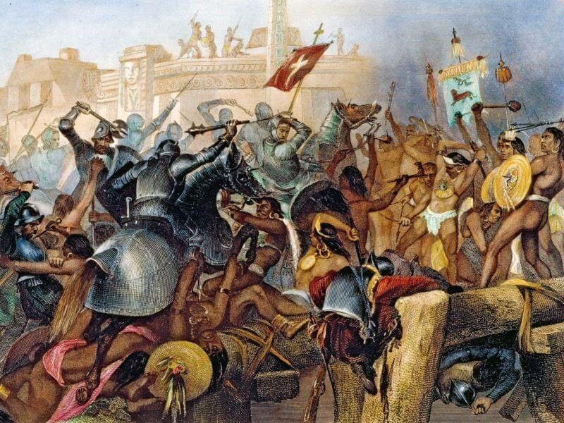 Hernan Cortes Kill Aztec People