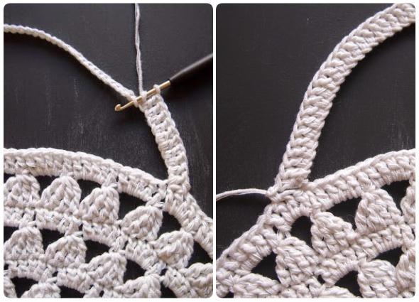 bolso crochet con grannys, grannys redondos, bolsos circulares