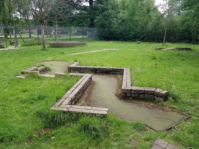 The abandoned Crazy Golf course at Wythenshawe Park
