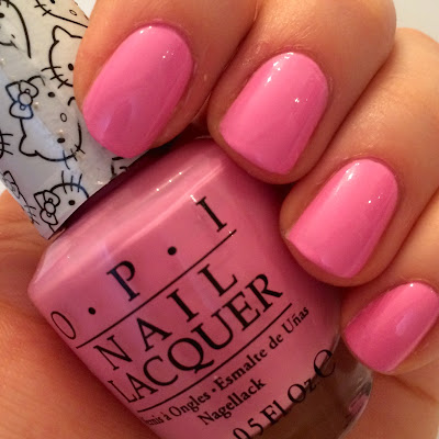 opi hello kitty swatch and review look at my bow