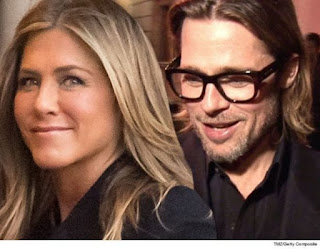 Brad Pitt Attends Jenifer Aniston's Birthday Party
