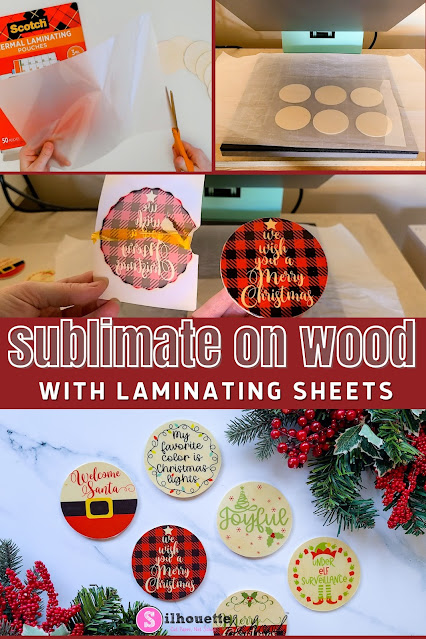 silhouette 101, silhouette america blog, wood signs, sublimation, sublimation printing