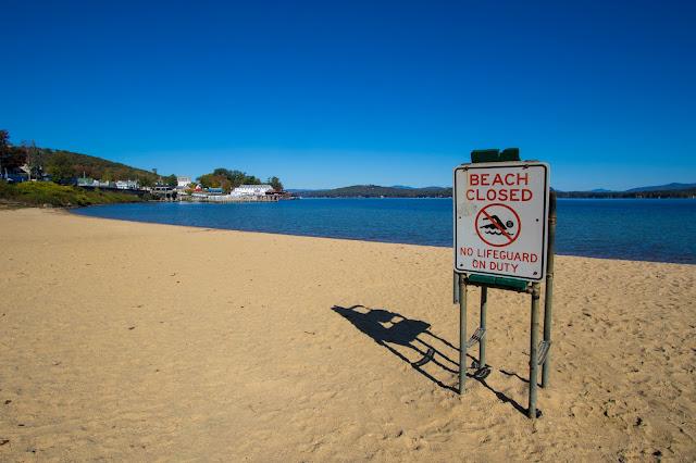Spiaggia di Weirs beach-Lago Winnipesaukee