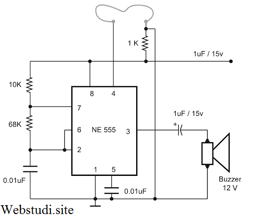 Gambar Rangkaian Elektronika Alarm Anti Maling