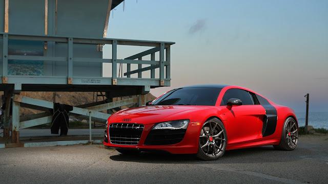 Audi Red & Black Sports Car 2020 Wallpaper
