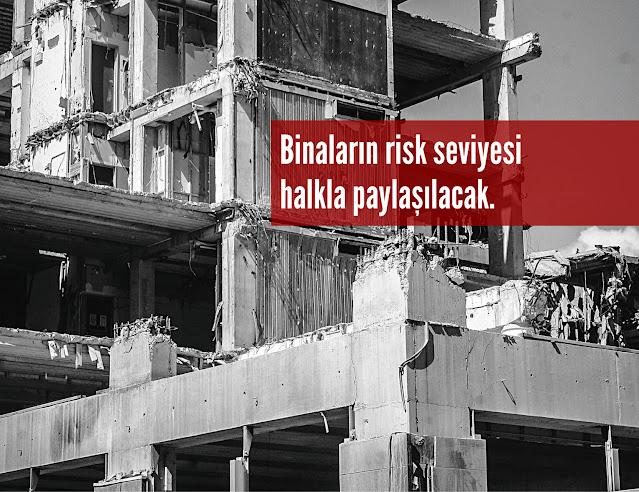 Binaların Risk Seviyeleri Halkla Paylaşılacak