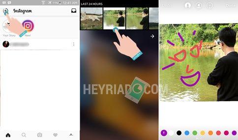 Cara upload foto galeri ke Instagram stories Cara Upload Foto Galeri ke Instagram Stories di Android