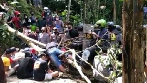 Polisi Sebut Ada Provokator Tunggangi Bentrokan Terkait Pembangunan Bendungan Bener Purworejo