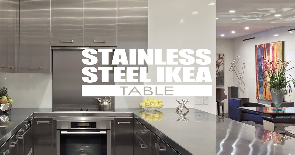 Ikea Stainless Steel Kitchen Cabinets With Butcher Block