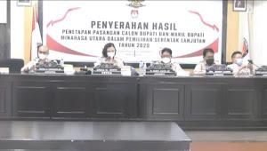 KPU Minut Tetapkan Tiga Paslon Bupati dan Wabup Penuhi Syarat