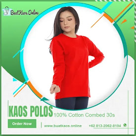 Kaos Polos Lengan Panjang Warna Merah Cabe Cotton Combed 30s <price>Rp36.000</price> <code>#Combed30s</code>