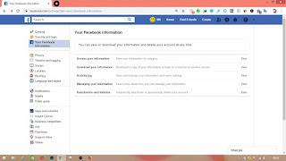 Deactive facebook account
