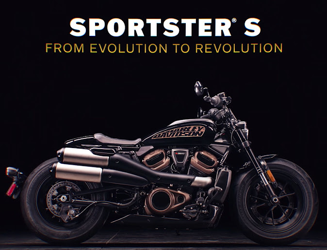 The new Harley Davidson Sportster S - 220 kg, 128 Nm, 121 HP - Liquid Cooled 60 Degree V Twin 4-Valve Head DOHC Oversquare Motor. Nice!
