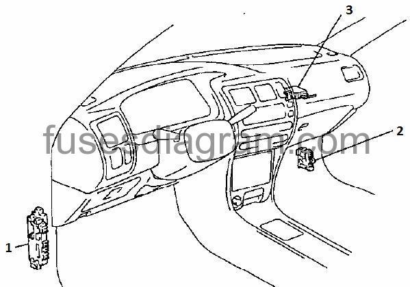 EN-Corolla100-blok-salon Diagram Fuse Box Great Corolla