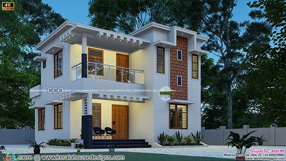 3 bedroom home front view rendering