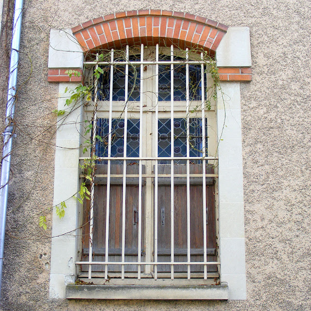 Window in Villa Caroline, Les Ormes, Vienne, France. Photo by Loire Valley Time Travel.