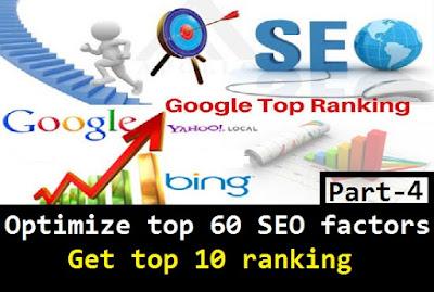 google seo ranking factors