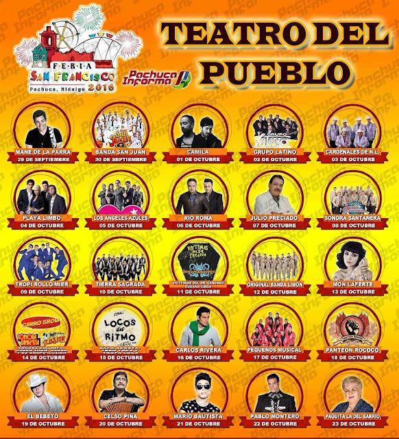 programa teatro del pueblo feria pachuca 2016