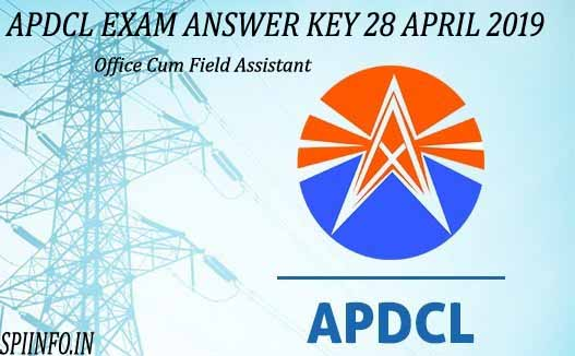 APDCL ANSWER KEY 2019, APDCL EXAMINATION ANSWER KEY