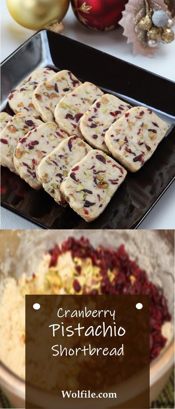 Cranberry Pistachio Shortbread #Cranberry #Pistachio #Shortbread #Bread