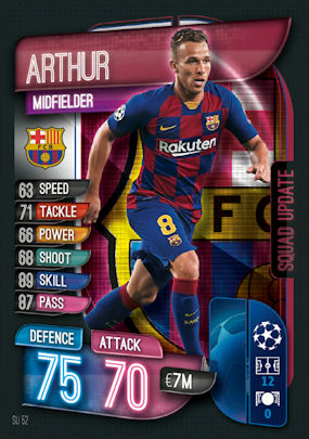 SQUAD UPDATE Match Attax Extra Uefa Champions League 2019//20 James Rodriguez