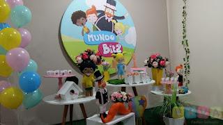 Decoração festa infantil Mundo Bita