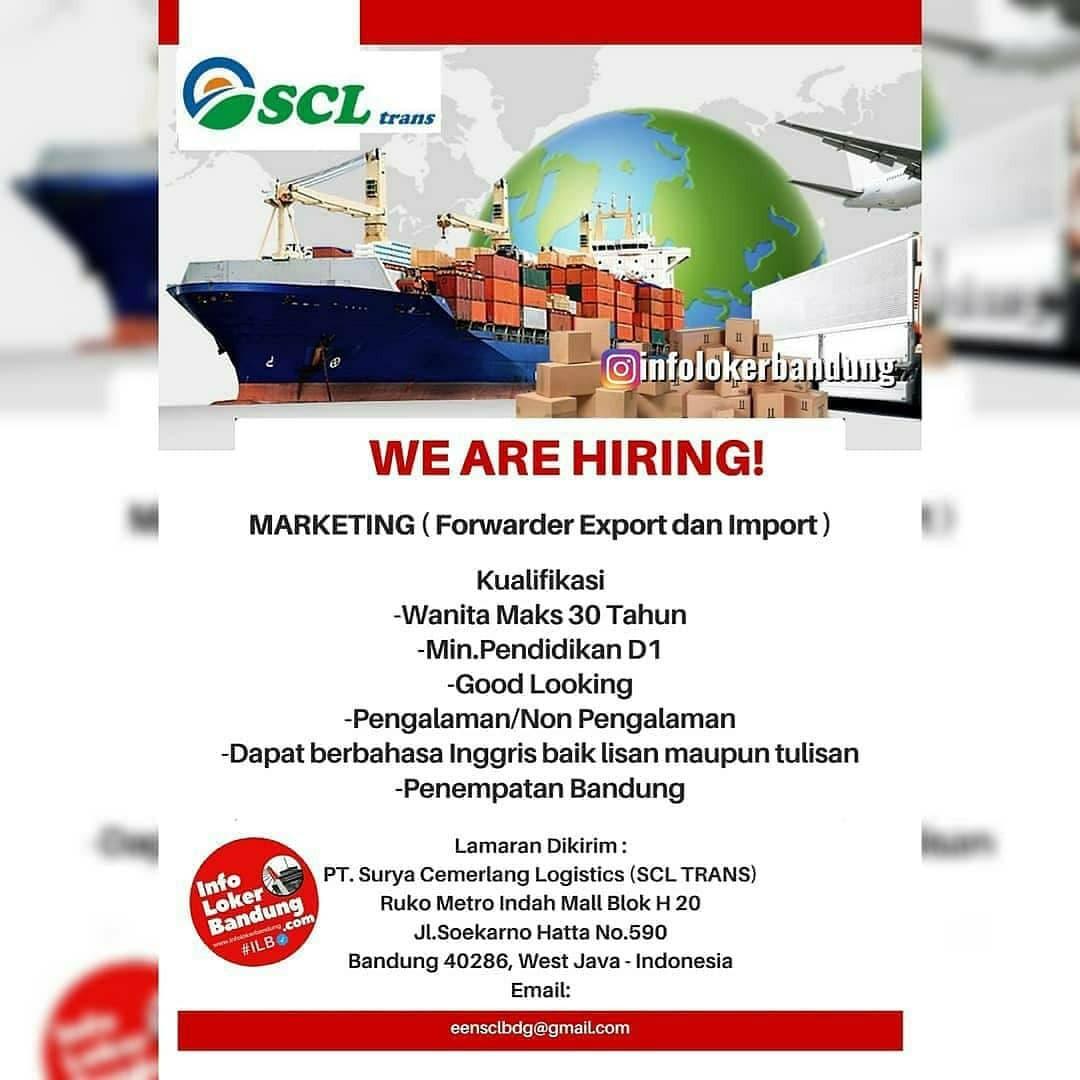 Lowongan Kerja Marketing ( Forwarder Export dan Import ) Bandung April 2021