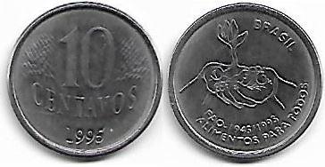10 centavos, 1995 fao