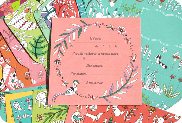 Set d'invitation - boîte créative d'Alice De Page - éditions Deux Coqs d'Or
