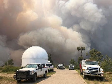 Mount Lemmon Observatory escapes fire damage (Source: U of Arizona)