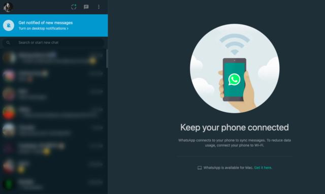 كيفية تفعيل الوضع الداكن Dark Mode على WhatsApp Web