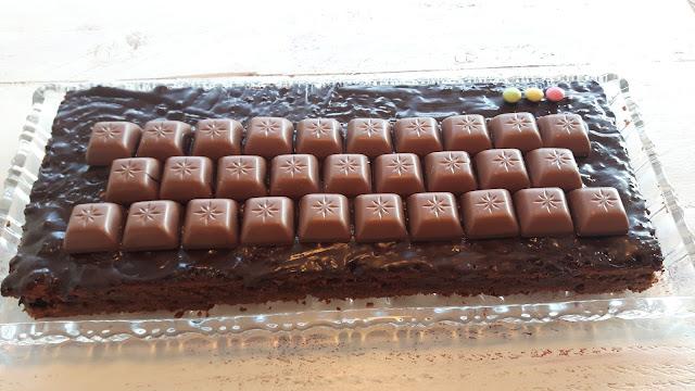 Tastatur-Torte mit Schogetten