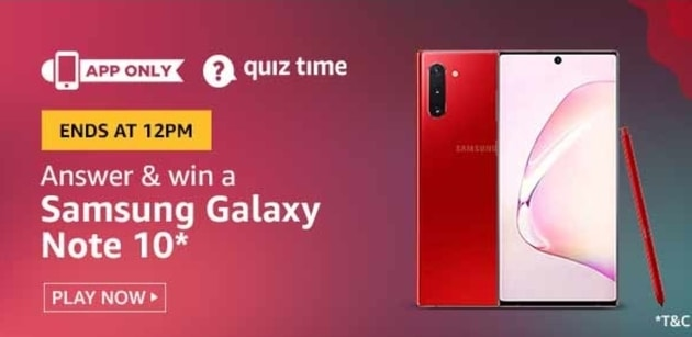 Samsung note 10 amazon quiz, Samsung galaxy note 10 amazon quiz Quiz Answer