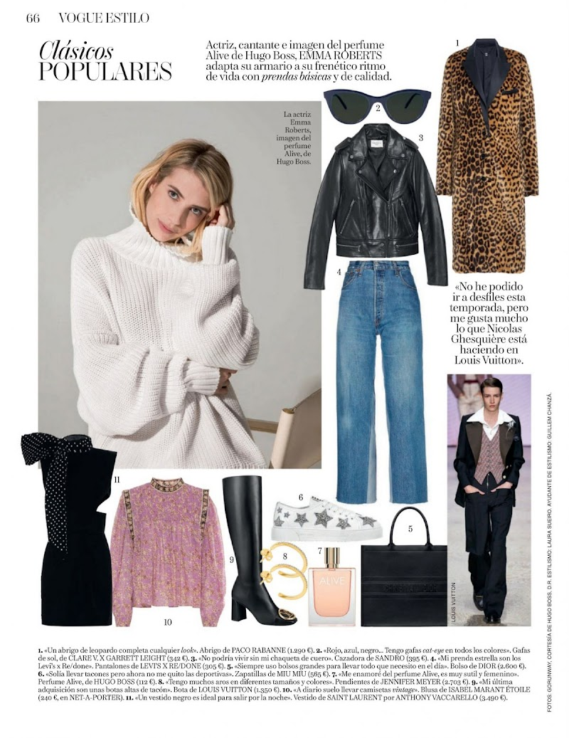 Emma Roberts Featured in Vogue Magazine - Spain April 2020