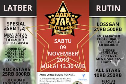 Latber Rutin Rockstars Enterprise Sabtu 09/11/2019