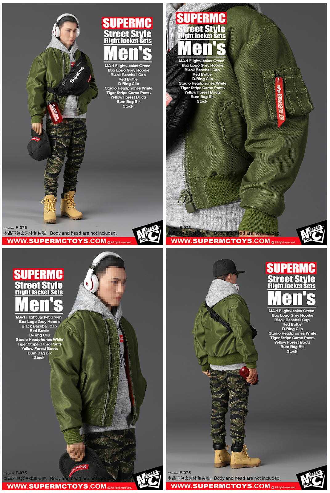 1 6 Street Styled Flight Jacket Sets For Mens Womens By Supermctoys Jaket Anime Shingeki No Kyojin Green Hoodie Kode Z 04 From China Based Supermctoyscom Comes Style Featuring The Following Accessories